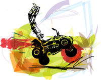 Quad bike illustration Royalty Free Stock Images