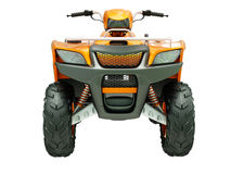 Quad bike isolated Royalty Free Stock Photo
