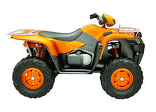 Quad bike isolated Stock Photo