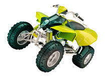 Quad bike isolated Stock Photos