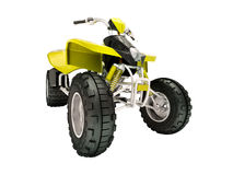 Quad bike isolated Stock Images