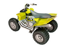 Quad bike isolated Royalty Free Stock Images