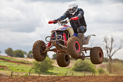 Quad bike jump Royalty Free Stock Image