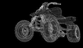 Quad bike, motorcycle,  3D model Royalty Free Stock Photo