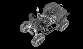 Quad bike, motorcycle,  3D model Stock Images