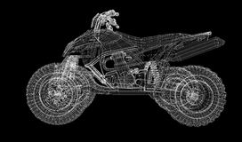 Quad bike, motorcycle,  3D model Royalty Free Stock Images