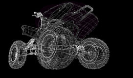 Quad bike, motorcycle,  3D model Royalty Free Stock Image