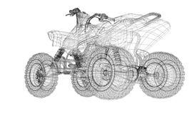 Quad bike, motorcycle,  3D model Stock Image