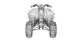 Quad bike, motorcycle,  3D model Royalty Free Stock Photos