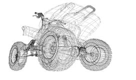 Quad bike, motorcycle,  3D model Stock Photography