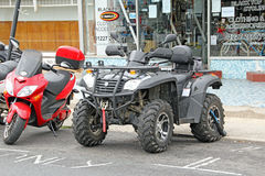 Quad bike parked Stock Image