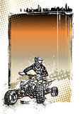 Quad bike poster background Stock Image