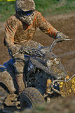 Quad bike race. In mud Stock Photography