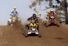Quad Bike Racing. Motocross competition - XXIII Grand Prix of the Independence of the name of Wladyslaw Dudzinski, Sochaczew, 11.11.2011 Poland Stock Images