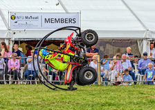 Quad bike rolling stunt. Royalty Free Stock Photos