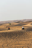 Quad bike safari in desert Royalty Free Stock Photography