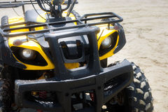Quad bike on sand stock photography