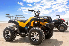 Quad bike on sand Stock Photo