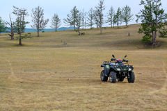 quad bike on the shore of lake Baikal Stock Images