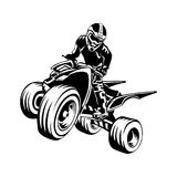 Quad bike silhouette Royalty Free Stock Photos
