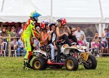 Quad bike stunt. Royalty Free Stock Photos