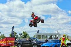 Quad bike stunts. Stock Images