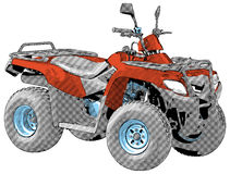 Quad bike - vector Royalty Free Stock Photos