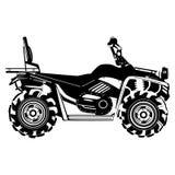 Quad bike vector black template stock illustration