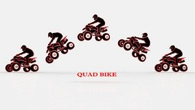 Quad bike on a white background Royalty Free Stock Photography