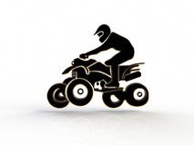 Quad bike on a white background Royalty Free Stock Images