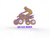 Quad bike on a white background Stock Photos