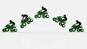 Quad bike on a white background Royalty Free Stock Photos