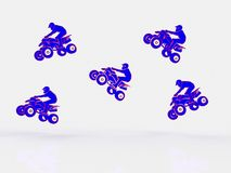 Quad bike on a white background Royalty Free Stock Photo