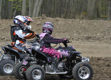 Quad Bike Youth Race Stock Images