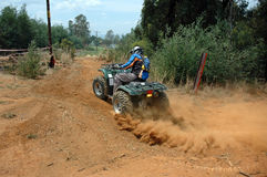 Quad Biker. Bikes and Quads during an off road race royalty free stock photos
