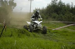 Quad Biker. Bikes and Quads during an off road race stock photos