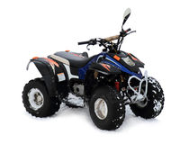 Quad bikes. Isolated on a white background Stock Image