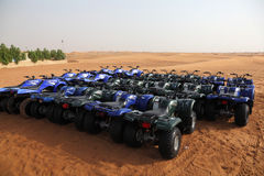 Quad bikes in the Desert Stock Photos