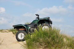 Quad bikes on  sand Stock Photos