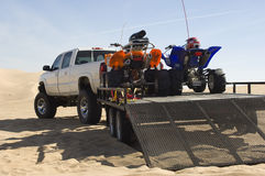 Quad Bikes On Trailer Stock Image