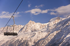 Quad Chairlift stock image