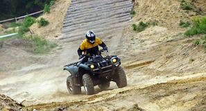 Quad competition. Atv quad racing annual competition Royalty Free Stock Photography