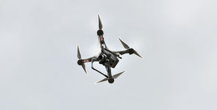 Quad copter drone Royalty Free Stock Photo