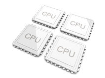 Quad core CPU Stock Photography