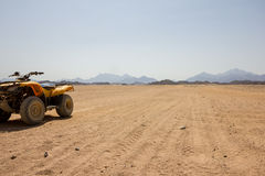 A Quad in the desert Stock Images
