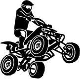 Quad driver making a stunt. Vector Stock Image