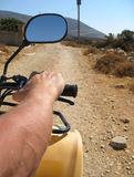 Quad driving in Naxos Royalty Free Stock Photo