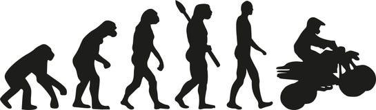 Quad evolution. Vector sports icon Royalty Free Stock Photo