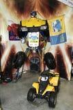 Quad la bici e l'emblema del randello del motore Fotografie Stock