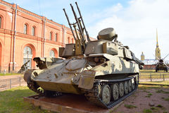 Quad 23mm self-propelled anti-aircraft weapon ZSU-23-4 Shilka. Stock Images